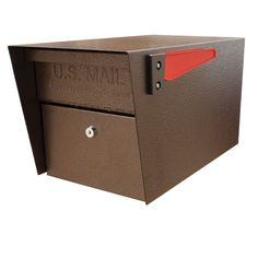Mail Boss Mail Manager W x H Metal Bronze Post Mount Lockable Mailbox at Lowe's. The Mail Manager by Mail Boss is a locking security mailbox for those looking for security without breaking the bank. The Mail Manager locking security Wall Mount Mailbox, Mounted Mailbox, Identity Theft Statistics, Lockable Mailbox, Mail Boss, Brick Mailbox, Security Mailbox, Security Lock, Residential Mailboxes