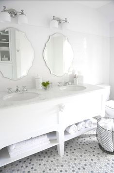 White Bathroom #White #Bathroom