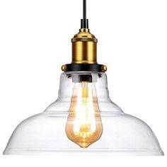 Lamp Clear Glass Canopy Black Cord Hanging Retro Ceiling Chandelier Oak Leaf #LightsHome