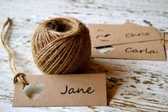 Wedding place cards/name tags/favour bag tags by LaPommeEtLaPipe, $0.50