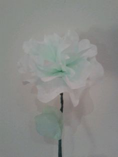 Coffee filter flower, dyed Waterstones green.