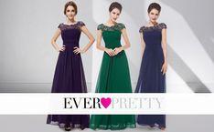 dd74f7f71f6 Ever Pretty Damen Lace Rueckseite Offen Kurzarme Chiffon Lange Abendkleider  36 Violett EP09993PW04  Amazon.