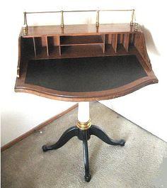 Writing desk, DREXLER HERITAGE pedistel desk- office boat furniture on Etsy, $325.00