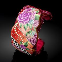 Fancy cuff, beads and polymer, what could be better
