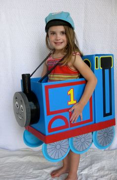 Awesome homemade thomas the tank engine halloween costume acrylic toddler and kids thomas the train costume solutioingenieria Image collections