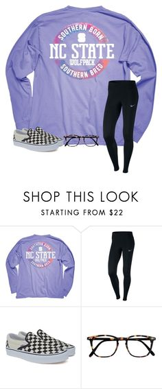 """Cold❄️"" by bryleighs ❤ liked on Polyvore featuring Ringspun, NIKE, Vans and Izipizi"