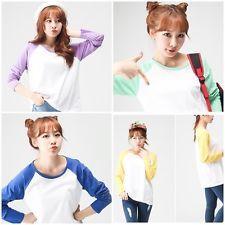 Baseball Kpop Korean LongSleeve Tshirt ~Cotton Costume Jacket Sweater Hat SNSD