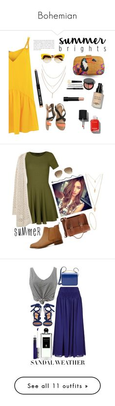 """""""Bohemian"""" by sarah-opatz ❤ liked on Polyvore featuring Lazul, Dolce&Gabbana, O'Neill, Serpui, Chanel, Bobbi Brown Cosmetics, Ally Fashion, Forever 21, The Cambridge Satchel Company and ASOS"""