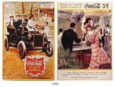 La historia de la Publicidad de Coca-Cola 1900 #ads #vintage #retro #cocacola #advertising #publicidad
