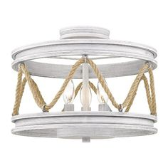Breakwater Bay Longfellow 3-Light Semi Flush Mount Fixture Finish: Gray Driftwood