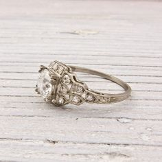 The way your skin will peek through those tiny openwork spaces. | 40 Vintage Wedding Ring Details That Are Utterly To Die For