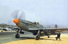 South African Air Force Mustang in Korea. South African Air Force, Aircraft Images, P51 Mustang, Horned Owl, Korean War, Fighter Jets, Aviation, History, Ww2
