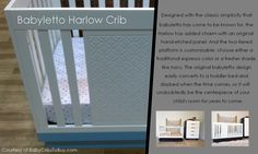 Babyletto Harlow crib in white Fresh And Clean, Nursery Furniture, Clean Design, Baby Cribs, Minimalist Design, Two By Two, The Originals, Home Decor, Minimal Design