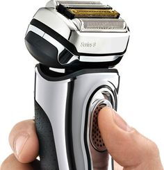 Braun - Series 9 Wet/Dry Electric Shaver - Chrome Braun Shaver, Best Electric Shaver, Electric Razors, Foil Shaver, Hair Trim, Close Shave, Shaving Cream, Wet And Dry, Cool Things To Buy