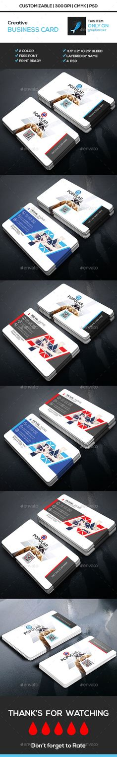 Creative Business Card Template PSD #download