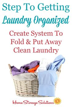 How To Create A System To Put Away Laundry {And Make It A Habit}