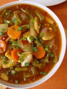 Indo Chinese Food ~ Schezwan Vegetables - Indian Food Recipes | Andhra Recipes | Indian Dishes Recipes | Sailu's Kitchen