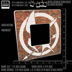 photo frame - mockingjay (hunger games) by studioCREATE on Etsy Mockingjay, Frame Sizes, Pattern Paper, Hunger Games, My Eyes, Symbols, Cool Stuff, Digital, Handmade Gifts