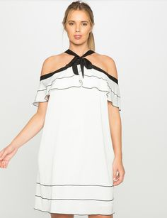 993acce3c4 Off the Shoulder Ruffle Dress
