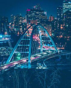 Beautiful Edmonton! #Edmonton #Bridges #Vacation Monte Carlo, Places To Travel, Places To See, Vancouver, Toronto, Tokyo, City Aesthetic, Cool Photos, Amazing Photos