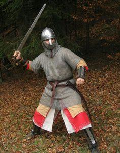 Good norman knight armor Normandische soldaat! Toffe outfit :) heel basic, doch heel herkenbaar Medieval armored century 11th 10th