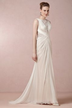 This is absolutely the dress I want. Now he just needs to wife me! Leyna Gown from BHLDN - $600