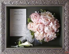 28. Preserved bridal bouquet with stems 12