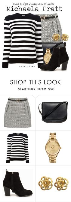 """""""Michaela Pratt"""" by charlizard ❤ liked on Polyvore featuring Forever New, Mansur Gavriel, Yves Saint Laurent, Lacoste, Nly Shoes, howtogetawaywithmurder, htgawm, tvlooks, michaelapratt and keatingfive"""