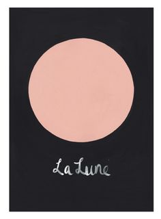 La Lune Print by The Adventures Of on Little Paper Planes $79