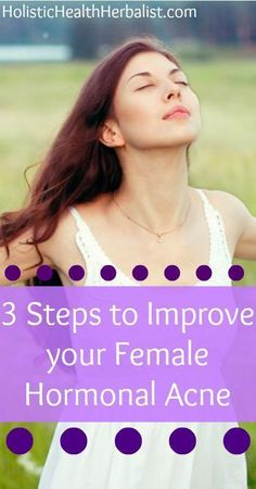 3 Steps to Improve Your Female Hormonal Acne - learn about the three most fundamental steps to beating hormonal acne nat. - 3 Steps to Improve Your Female Hormonal Acne – learn about the three most fundamental steps to beating hormonal acne naturally. Cystic Acne Remedies, Skin Care Remedies, Health Remedies, Acne Skin, Acne Scars, Oily Skin, Pcos, Acne Breakout, Best Acne Treatment