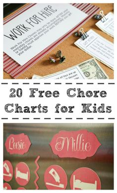 20 Free Chore Charts for Kids