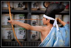 Kyūdō, the Japanese archery  I'd love to try it, but I don't know about that hat