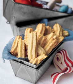 These simple piped delights contain a secret ingredient: ground cloves! Mild and savory, these cookies taste fantastic with coffee—consider wrapping them up with a bag of roast beans.  Recipe: Nana Cookies   - CountryLiving.com