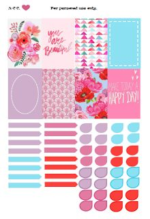 Free Colorful Spring Planner Stickers from On The Coast