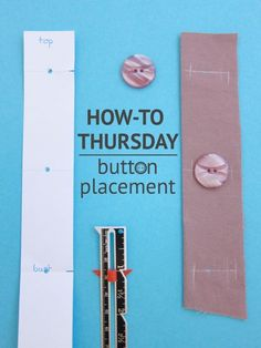 How to place buttons when sewing a garment