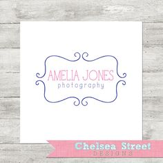 Premade logo and watermark design curvy by chelseastreetdesigns, $20.00