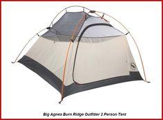 Big Agnes Burn Ridge Outfitter 2 Person 3 Season Tent Cream/Coal #BigAgnes