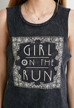 On the Run Muscle Tee - Tops - Graphic Tees - 2000167214 - Forever 21 UK