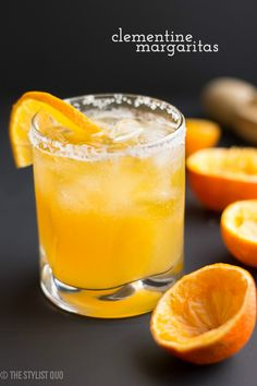 Clementine Margaritas | tequila, clementine juice, lime juice, agave nectar, sea salt, clementine slice