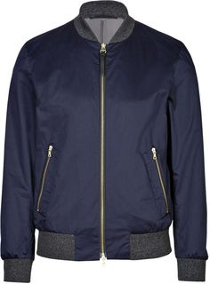 Navy Bomber Jacket by Paul Smith. Buy for $423 from STYLEBOP.com