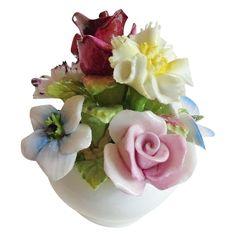 Coalport Bone China England Colorful Vase of Flowers