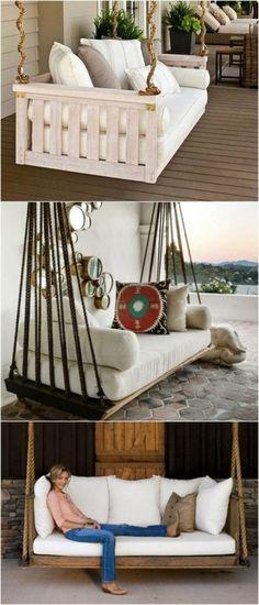 12.DIY Swinging Bench