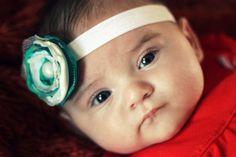 Turquoise vintage baby headband