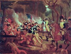 Colonel William Washington at the Battle of Cowpens, South Carolina, 17th January, 1781 (oil on canvas)