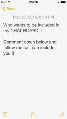 Ask to be in my chat board!  Follow for a Follow my peeps