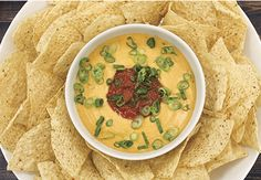 A quick and easy 7 minutes is all it takes to make this spicy cheese dip topped with salsa Aldi Recipes, Cheese Recipes, Appetizer Recipes, Appetizers, Game Recipes, Food Dishes, Side Dishes, Dishes Recipes, Serving Dishes