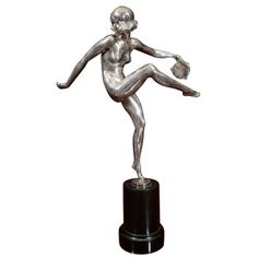 """An Art Deco Sculpture """"Tambourine"""" by, Pierre Laurel 