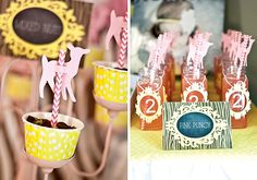 {Oh Dear} Pink & Yellow Woodland Birthday Party