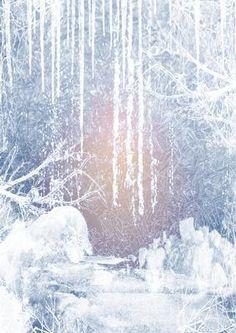winter snow scene Christmas background paper vertical on Craftsuprint designed…