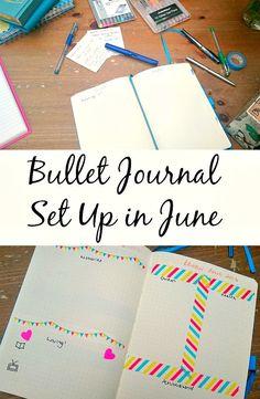 Bullet Journal Set Up in June